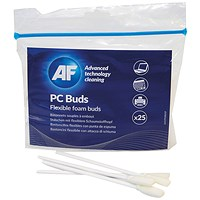 AF Flexible Foam Buds for PC Cleaning 130mm (Pack of 25)