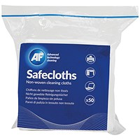 AF Safecloths Non-Woven Cleaning Cloths (Pack of 50) ASCH050