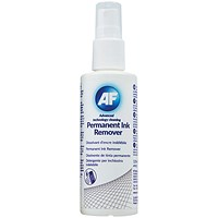 AF Permanent Ink Remover 125ml Pump Spray (Suitable for whiteboards, CD, Dvds)