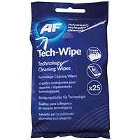 AF Mobile Technology Cleaning Wipes (Pack of 25)