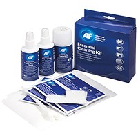 AF Essential Cleaning Kit (Multi Screen Clene, PC Clene Wipes, Foam Clene, Ultraclene Wipes)