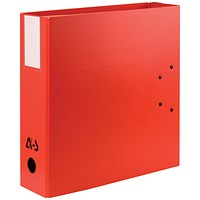 Arianex Double Capacity A4 Lever Arch File, 2x50mm Spines, Red