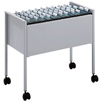 Durable Suspension File Trolley, Foolscap, Grey