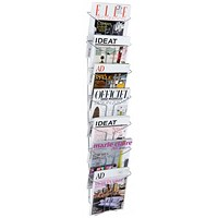 Alba Wall Mounted 7 Pocket Literature Holder A4 Chrome
