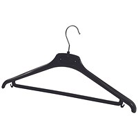 Alba Plastic Coat Hanger Black (Pack of 20)