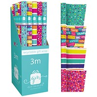 Giftmaker Teen Mix Gift Wrap (Pack of 36)