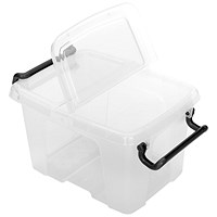 Strata Smart Box, 6 Litre, Clip-on Folding Lid, Clear Plastic