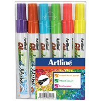 Artline Glass Markers, Assorted Colours, Pack of 6