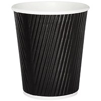 25cl Black Ripple Cup (Pack of 500)