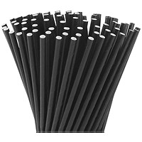 Black Paper Drinking Straw Biodegradable 197mm (Pack of 250)