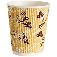 4Aces Ripple Red Bean 8oz Paper Cup (Pack of 500)