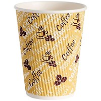 4Aces Ripple Red Bean 12oz Paper Cup (Pack of 500) HHRWPA12