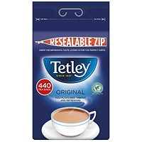 Tetley High Quality One Cup Tea Bags - Pack of 440