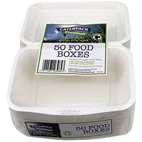 Caterpack Biodegradable Super Rigid Food Boxes (Pack of 50)