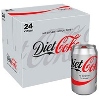 Diet Coca Cola - 24 x 330ml Cans