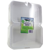 Caterpack Biodegradable Hinged Fish and Chip Container (Pack of 50)