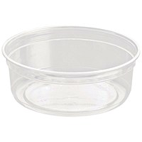 Caterpack Biodegradable rPET DeliGourmet Food Container 8oz (Pack of 50)