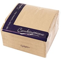 Combinations Napkin 330mm x 330mm Brown (Pack of 100)