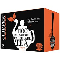 Clipper Fairtrade Blend 1 Cup Teabags (Pack of 1100)