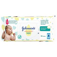 Johnsons Baby Wipes Extra Sensitive 52 wipes, Pack of 6
