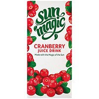 Sunmagic Premium Cranberry Juice Drink 1 Litre (Pack of 12)
