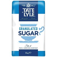 Tate and Lyle Granulated Sugar 1 kg (Pack of 15)