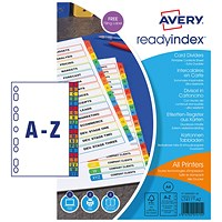 Avery Mylar Readyindex A-Z Punched