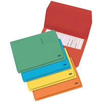 Elba StrongLine Document Wallets, 320gsm, Foolscap, Assorted, Pack of 25