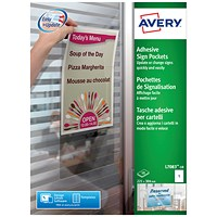 Avery Adhesive Sign Pockets A4 Transparent (Pack of 10)