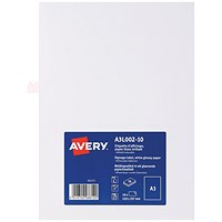 Avery Removable Sign, Gloss Finish, A3 (Pack of 10)