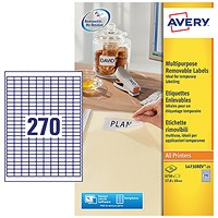Avery Laser Mini Labels 270 per sheet White (Pack of 6750) L4730REV-25