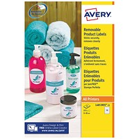 Avery Removable Labels 51mm dia 15 P/Sht Wht (Pack of 375) L4853REV-25