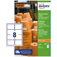 Avery Ultra Resistant Labels 74x105mm (Pack of 160) B3427-20