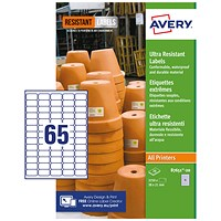 Avery Ultra Resistant Labels 38x21mm (Pack of 1300) B7651-20