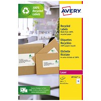 Avery Recycled Address Labels 16 Per Sheet White (Pack of 240) LR7162-15