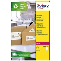 Avery Recycled Lever Arch Labels 4 Per Sheet White (Pack of 60) LR4761-15