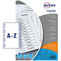 Avery Index Dividers, A-Z, A4, White
