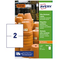 Avery Ultra Resistant Labels 148x210mm (Pack of 40) B3655-20