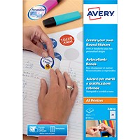 Avery Create Your Own Reward Stickers 8 Per Sheet (Pack of 192) E3613