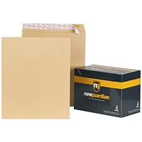 New Guardian Heavyweight Pocket Envelopes, 444x368mm, Manilla, Peel & Seal, 130gsm, Pack of 125