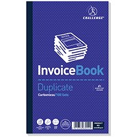 Challenge Carbonless Invoice Duplicate Book, 210mm x 130mm, With VAT/Tax, Pack of 5