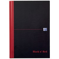 Black n' Red Single Cash Account Book, 192 Pages, A5, Pack of 5