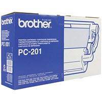 Brother PC201 Black Fax Cartridge and Thermal Ribbon