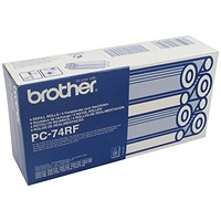 Brother PC74RF Black Fax Ribbon (Pack of 4)