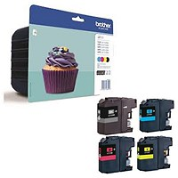 Brother LC123VALBPX Inkjet Cartridge Value Pack - Black, Cyan, Magenta and Yellow (4 Cartridges)