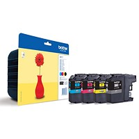 Brother LC121 Inkjet Cartridge Value Pack - Black, Cyan, Magenta and Yellow (4 Cartridges)