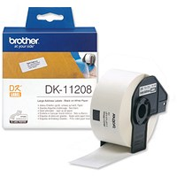 Brother Label Address Large 38x90mm White Ref DK11208 [Roll of 400]