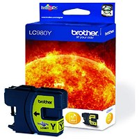 Brother LC980Y Yellow Inkjet Cartridge