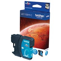 Brother LC1100HYC Cyan High Yield Inkjet Cartridge