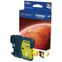 Brother LC1100HYY Yellow High Yield Inkjet Cartridge